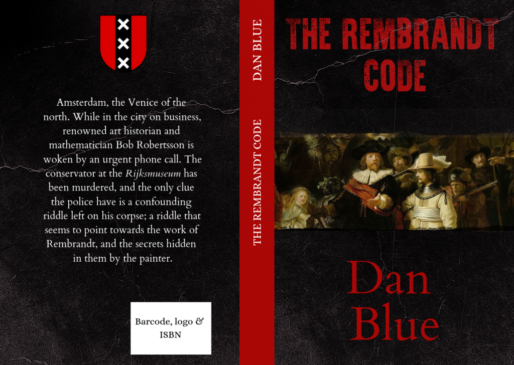 Self-published book cover made in Canva