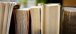 Self-published books in a row