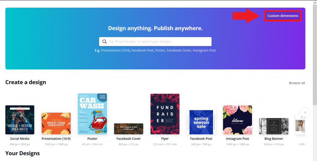 create a book cover with canva