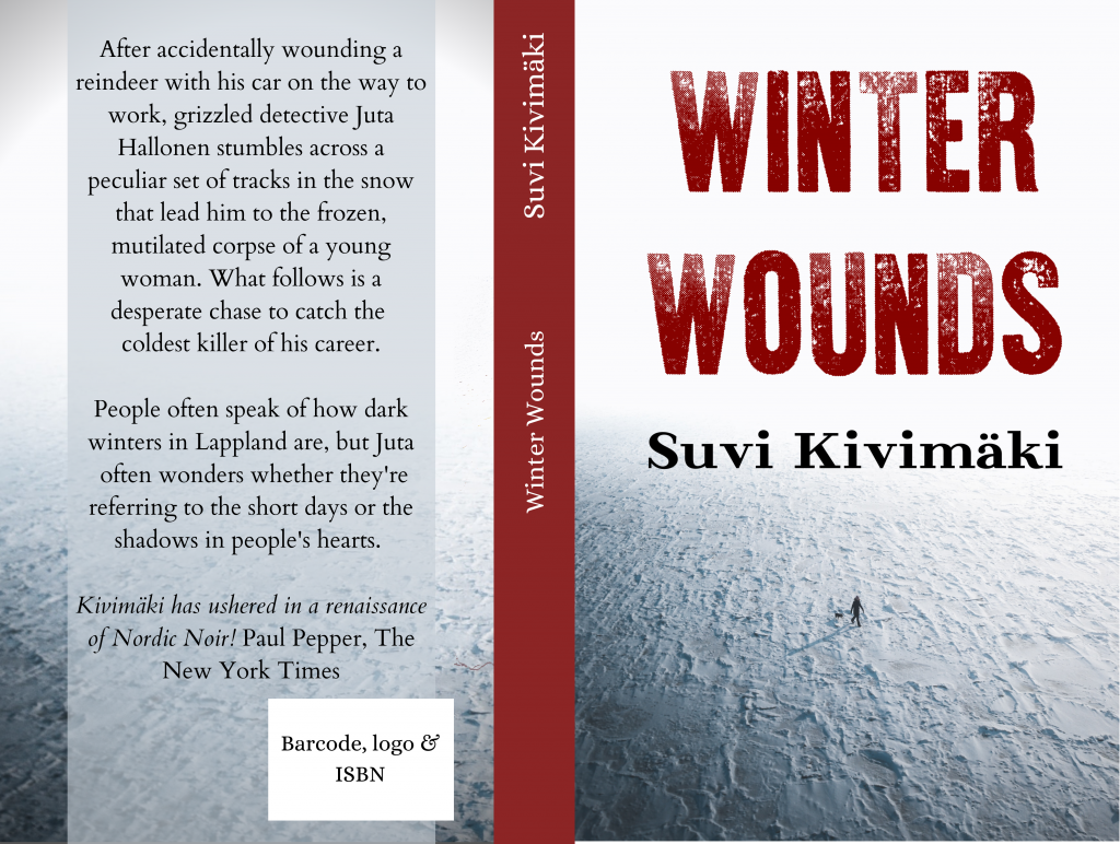 Nordic Noir Book cover with war is over font