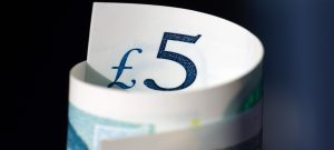 Rolled Up Five-Pound Bank Note