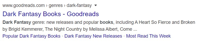 meta description dark fantasy books