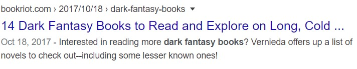meta description book riot dark fantasy books
